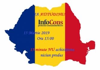 Miscarea de Protectia consumatorilor raspunde provocarii si se alatura actiunii din 15 Martie, ora 15:00, timp de 15 minute!