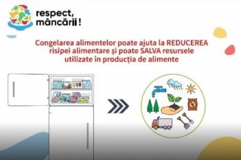 Prin congelarea alimentelor poți reduce risipa de alimente!