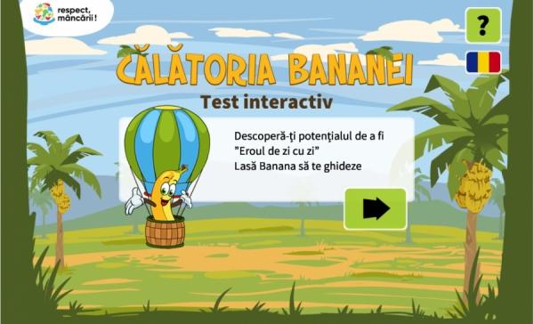 Copii, alăturați-vă poveștii bananei pentru a putea fii eroi ai reducerii risipei alimentare!