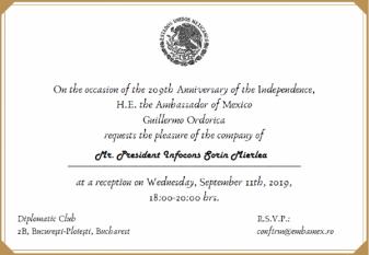 Președintele InfoCons, Sorin Mierlea, participă la Ziua Națională a Mexicului
