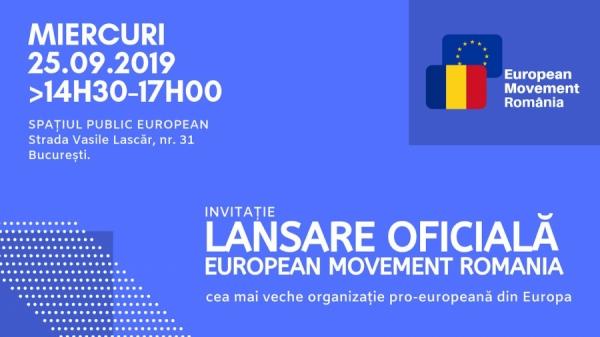 Președintele InfoCons, Sorin Mierlea, participă la lansarea European Movement Romania