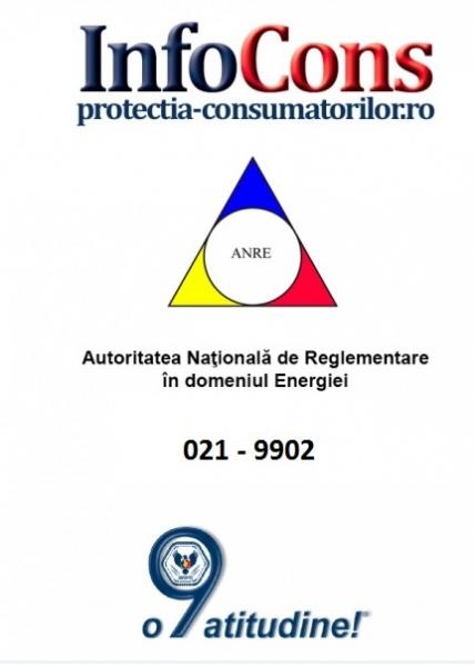 Telefonul consumatorului A.N.R.E. - 021 9902