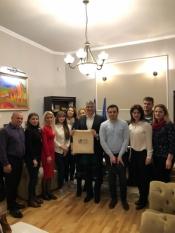 Delegația din Republica Moldova prezentă la sediul Asociației InfoCons