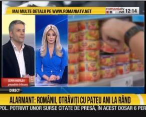 Domnul Sorin Mierlea este in direct la Romania TV