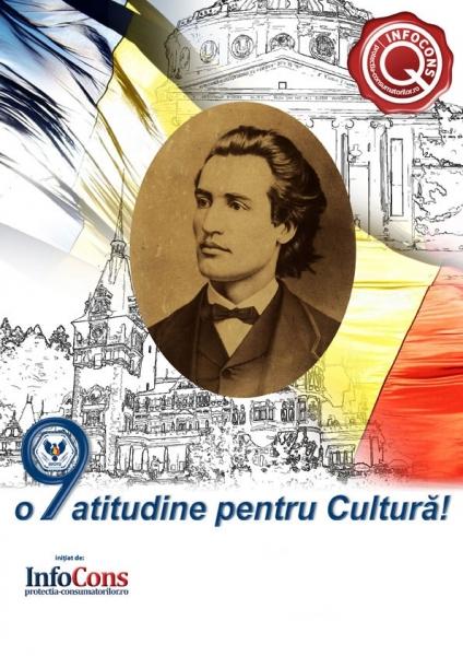 15 ianuarie - Ziua Culturii Naționale și 170 de ani de la nașterea lui Mihai Eminescu, poetul național al României