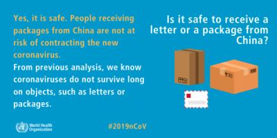 Distrugător de mituri: Este sigur să primiți o scrisoare sau un pachet din China?