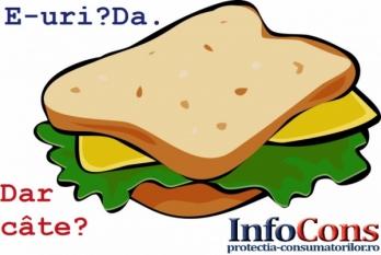 Câte E-uri putem găsi într-un sandviș cu Pâine, Pate vegetal și Margarină?
