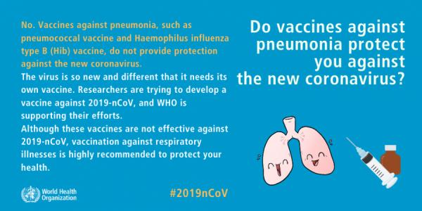 Protejează vaccinurile împotriva pneumoniei de noul coronavirus?