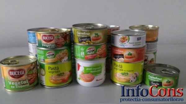 Studiu comparativ - Pateuri de post cu pana la 15 aditivi alimentari!!!