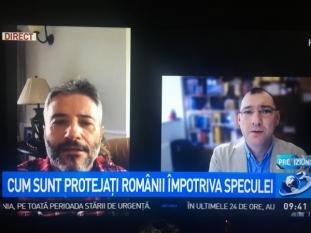 Domnul Sorin Mierlea este in direct la Antena 3