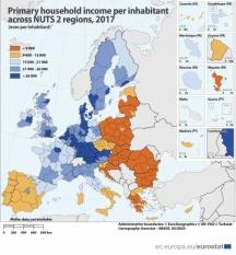 Diferențe regionale în veniturile primare ale gospodăriilor