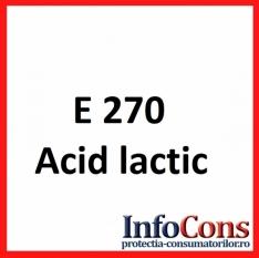 Definiție E270 - Acid lactic