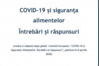 COVID-19 și siguranța alimentelor - Întrebări și răspunsuri