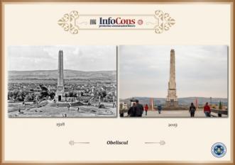 Ieri și Azi - Obeliscul din Alba Iulia