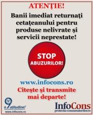 INFOCONS ALĂTURI DE CETĂȚEANUL CONSUMATOR DIN ROMÂNIA! CUM ESTE APĂRAT?! FII INFORMAT! IA ATITUDINE!