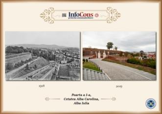Ieri și Azi - Poarta I Cetatea Alba Carolina