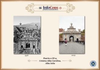 Ieri și Azi - Poarta III Cetatea Alba Carolina