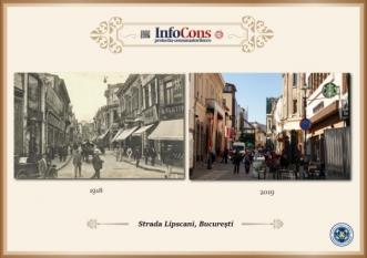 Ieri si Azi - Strada Lipscani din Bucuresti