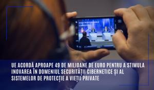 UE acordă aproape 49 de milioane de euro pentru a stimula inovarea în domeniul securității cibernetice și al sistemelor