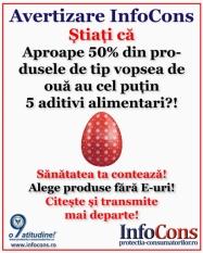Stiati ca ... aproape 50% din produsele de tip vopsea de oua au cel putin 5 aditivi alimentari?!