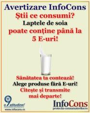 Stii ce consumi?! Lapte de soia poate contine pana la 5 E-uri!