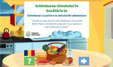 Schimbarea climatului in bucataria ta - Test educational cu privire la obiceiurile alimentare