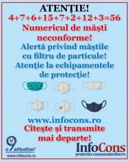 Alerta masti neconforme - protectia consumatorilor! 8 alerte = 56 de tipuri de masti neconforme!