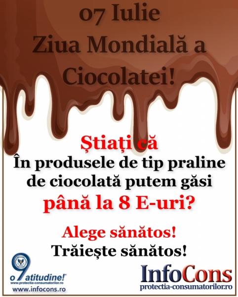 """Denumirea de """"ciocolata"""" doar daca conține minimum 35 % substanță solidă uscată totală"""