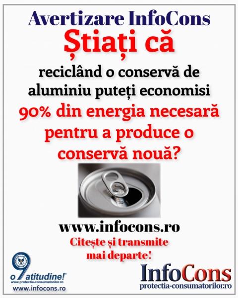 Stiati ca...recicland economisiti energie