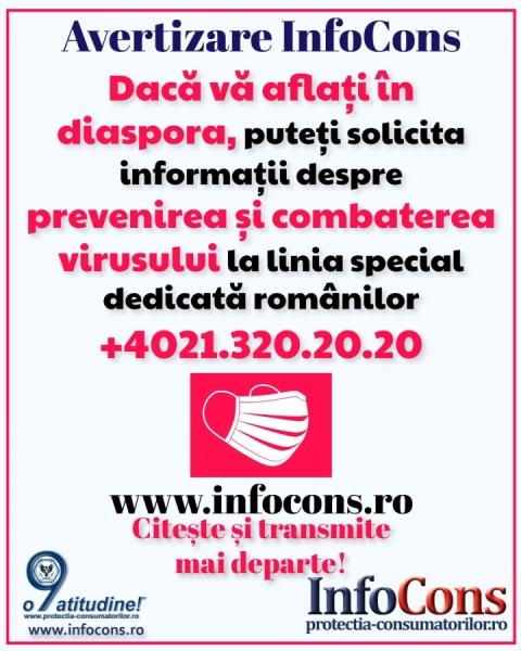 COVID - 19: Linie telefonica dedicata romanilor din diaspora