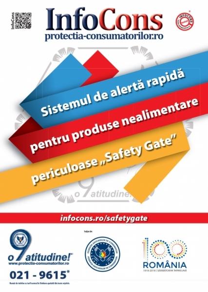 Safety Gate: Sistemul de alertă rapidă produse nealimentare – raport săptămânal 15-21.08.2020