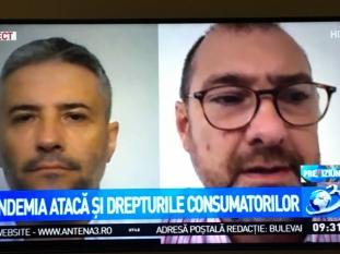 Domnul Sorin Mierlea în direct la postul de televiziune Antena 3
