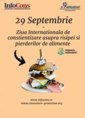 29 Septembrie - Ziua internationala de constientizare asupra risipei si pierderilor de alimente.