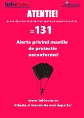 Atentie!!!! Inca 8 masti de protectie neconforme!!! Total 131 masti de protectie neconforme !!!!!!