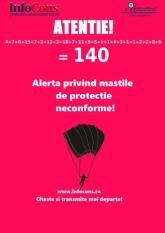 Atentie!!! Alerta protectia consumatorilor! 9 masti de protectie neconforme, dintre care 7 doar din Romania!!! Total 140 masti de protectie neconforme !!!!!!