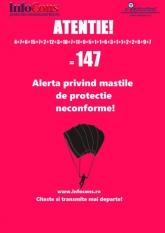 Informatii masti de protectie la 0219615! Alerta cu inca 7 masti de protectie neconforme !!! Total 147 masti de protectie neconforme !!!!!!