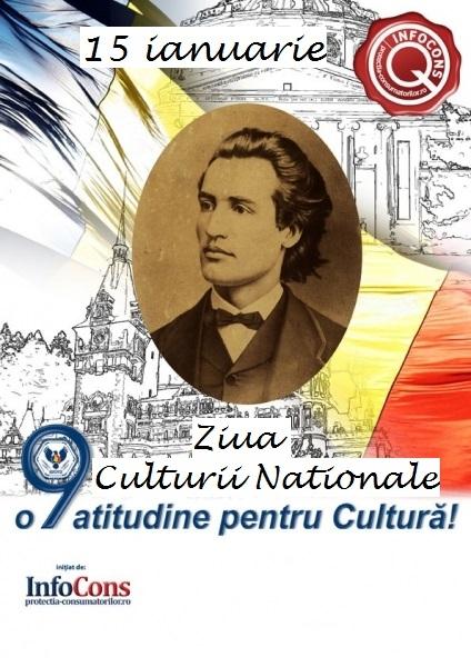 15 ianuarie - Ziua Culturii Naționale și 171 de ani de la nașterea lui Mihai Eminescu, poetul național al României