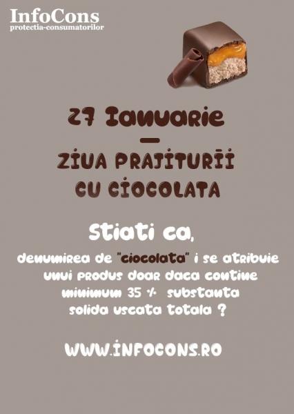 27 Ianuarie - Ziua prajiturii cu ciocolata