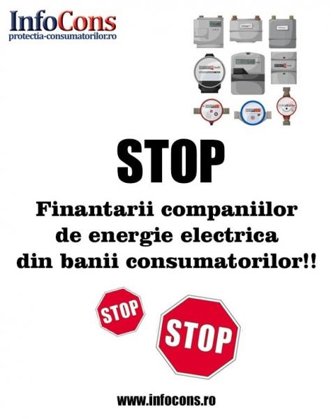 STOP finantarii companiilor de energie electrica din banii consumatorilor!