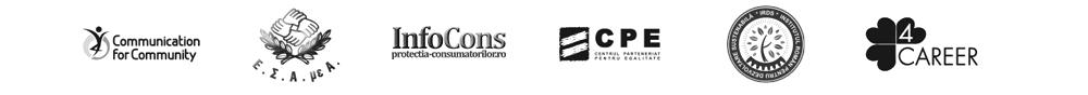 Communication for Community | ESAEA  | InfoCons  | Centrul Parental pentru Egalitate  | Institutul Român pentru Dezvoltare Sustenabilă  | 4 CAREER