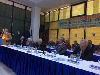 """Domnul Sorin Mierlea – Presedinte A.N.P.C.P.P.S.Romania – InfoCons  participa la  Congresul National al Federatiei Nationale """"Omenia"""" a Caselor de Ajutor Reciproc ale Pensionarilor din Romania"""